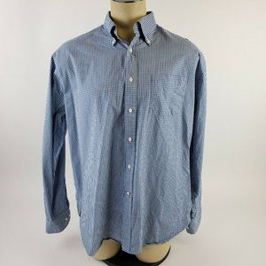 Victorinox Button Up Shirt Large Blue Plaid Check